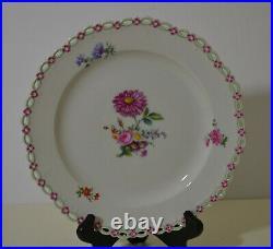 Antique Kpm Berlin Porcelain Floral Cabinet Plate
