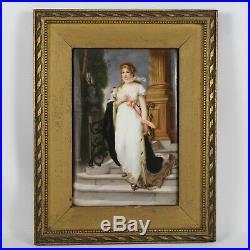 Antique Kpm German Hand Painted Porcelain Plaque Queen Louise Prussia