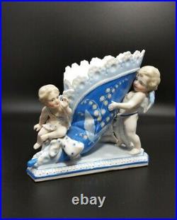 Antique Kpm German Porcelain Cherubs Figurine