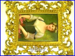 Antique Kpm Hand Painted Porcelain Plaque Spring After Jules Ballavoine Framed