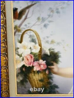 Antique Kpm Porcelain Plaque Of Children Playing 19c