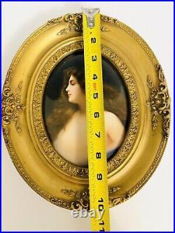 Antique Kpm Porcelain Plaque erbluth After Asti Signed Wagner