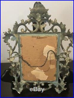 Antique Kpm Style Heutschenreuther Porcelain Plaque solitude