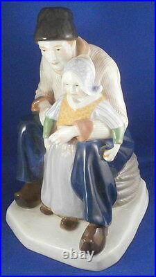 Antique Large Art Nouveau KPM Berlin Porcelain Figurine Figure Porzellan Figur