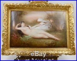 Antique Limoges Hand Painted Very Rare Kpm Style Porcelain Portrait Plaque