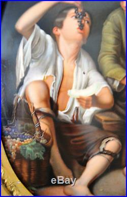 Antique Meissen Kpm Plaque Original Handpainted Porcelain Painting