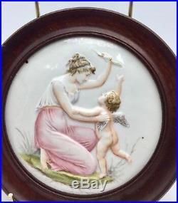 Antique Naples Porcelain Plaque circa 1885