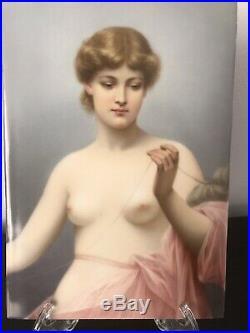 Antique Original KPM Porcelain Portrait Plaque Of Klotho