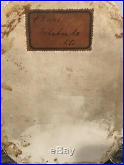 Antique Original Kpm Porcelain Plaque Solitude Signed 19c