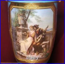 Antique Porcelain Cabinet Vase KPM & Dresden Listed Artist Louis Knoeller 1890's