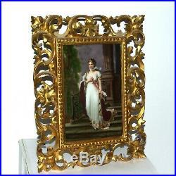 Antique Porcelain Dresden Plaque Queen Louise Germany Kpm  Signed B. Rudolf