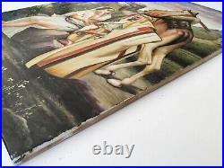 Antique Porcelain Plaque Art French KPM Islamic Judaica Berlin tile (M2271)