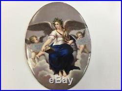 Antique Porcelain Plaque Kpm Royal Angel Cherub Cherubs German
