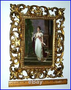 Antique Porcelain Plaque Queen Louise Berlin Kpm  Plaque Signed B. Rudolf