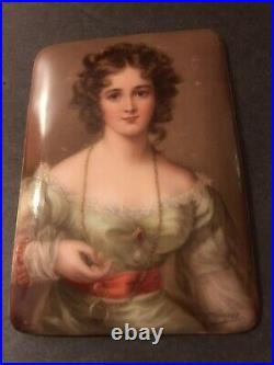 Antique Porcelain Plaque/Signed Wagner/Hutchenreutur/German/C. 1900/Vienna/KPM