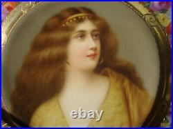 Antique Royal Vienna Portrait Plate Wagner KPM