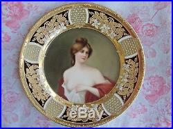 Antique Royal Vienna Portrait Plate Wagner Nude KPM