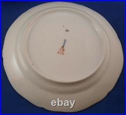 Antique Set 6 KPM Berlin Porcelain Neuzierat Plate s Porzellan Teller German