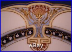 Antique Superb Art Nouveau KPM Berlin Porcelain Jewelled Plate Porzellan Teller