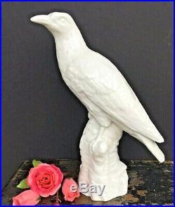 Antique Vintage Blanc De Chine KPM White Porcelain Bird
