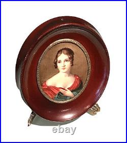 Antique Vintage KPM MEISSEN PORCELAIN PORTRAIT OF PAOLINA BORGHESE Miniature Old