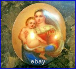 Antique miniature painting on Porcelain attributed to Raphael KPM Style