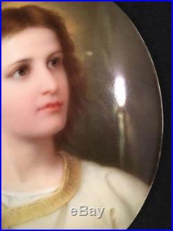 Authentic KPM Hand-Painted Porcelain Plaque Young Jesus