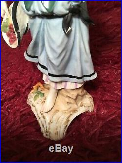 BEAUTIFUL ANTIQUE 19th c GERMAN KPM PORCELAIN FIGURINE OF A WOMAN WITH FRUITS 9