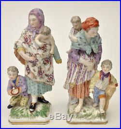 BERLIN KPM PORCELAIN PAIR OF FIGURES Mother & Child C1760 Antique