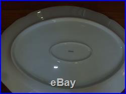 Big Antique 19th c. KPM Berlin White Blanc de Chine Porcelain Deep Oval Platter