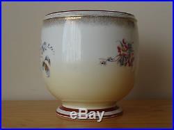 C. 19th Antique German Germany KPM Porcelain Floral Flower Planter