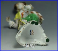 C1900s KPM Porcelain Figurine of Gentleman in Yellow Coat handpainted