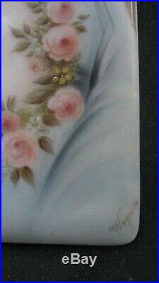 Ca1900 Hutschenreuther KPM signed Wagner 6 Porcelain Portrait Plaque Painting
