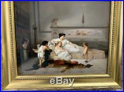 EXTREMELY RARE Large KPM Plaque Neoclassical Grecian Pompeii Porcelain Plaque