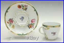 Exquisite KPM Berlin Hand Painted Porcelain Cup & Saucer, c 1800
