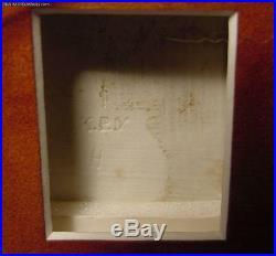 Exquisite Mint Condition Antique KPM Porcelain Plaque Woman With Cherub