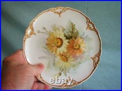Fabulous Set Of 7 Antique Kpm Floral & Heavily Gilded Porcelain Plates