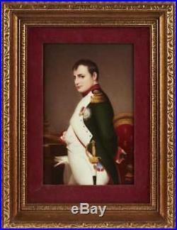 Fine 19C KPM Napoleon Bonaparte Porcelain Plaque