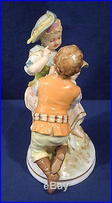 Fine Antique German Berlin KPM Porcelain Figurine Man + Woman Museum Quality