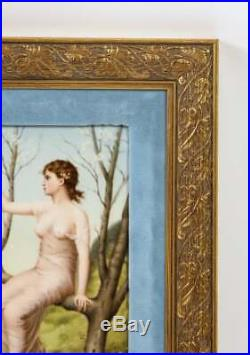 Fine Quality Antique Berlin KPM Hand Painted Porcelain Rectangular Plaque