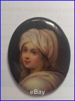 Fine antique miniature porcelain plaque KPM Berlin