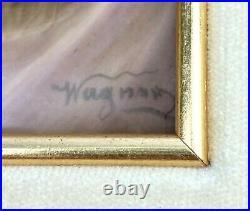 Framed KPM Porcelain Plaque of Charm signed Wagner