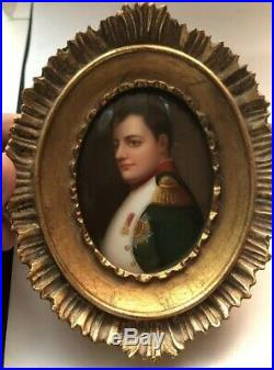 French Hand Painted Napoleon Bonaparte Porcelain 1800, s Made In Germany Kpm