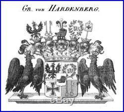 GERMAN PRUSSIAN Berlin KPM ARMORIAL Cup & Saucer WAPPEN TASSE Crest vase