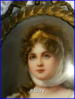 German Porcelain Oval Plaque Queen Louise KPM quality circa 1890