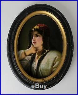 Gustav Carl Ludwig Richter FR Unterberger Porcelain Portrait Plaque KPM style