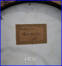 HUGE! Antique KPM Porcelain Berlin plaque Florentine ROCOCO frame Asti Wagner
