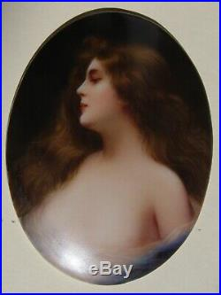 Hutschenreuther Porcelain Plaque After Asti Painting by KPM Artist Wagner
