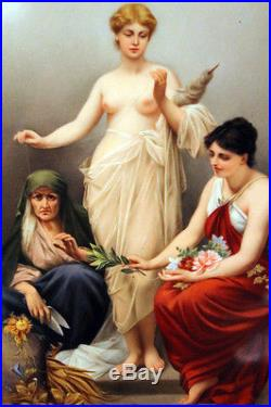 Important Kpm Porcelain Plaque With Painting The Three Fates