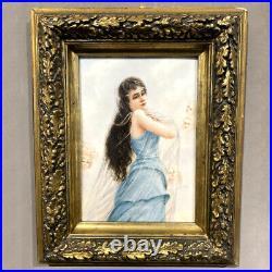 Important Plaque KPM Porcelain Hand-Painted 1894